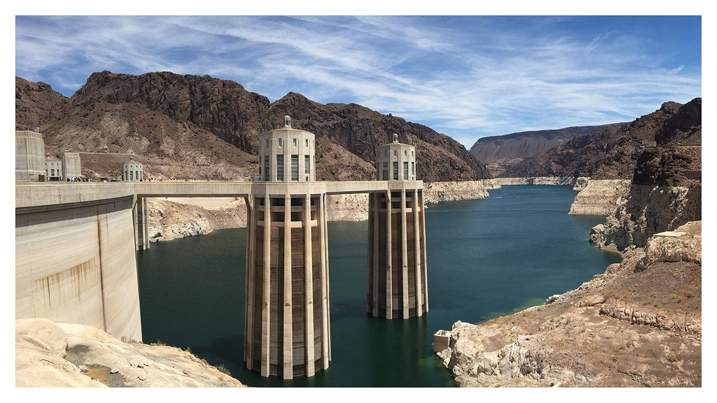 Low Water Levels at Hoover Dam