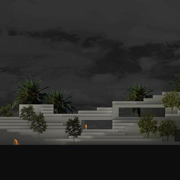 Elevation Study of Building Landscape