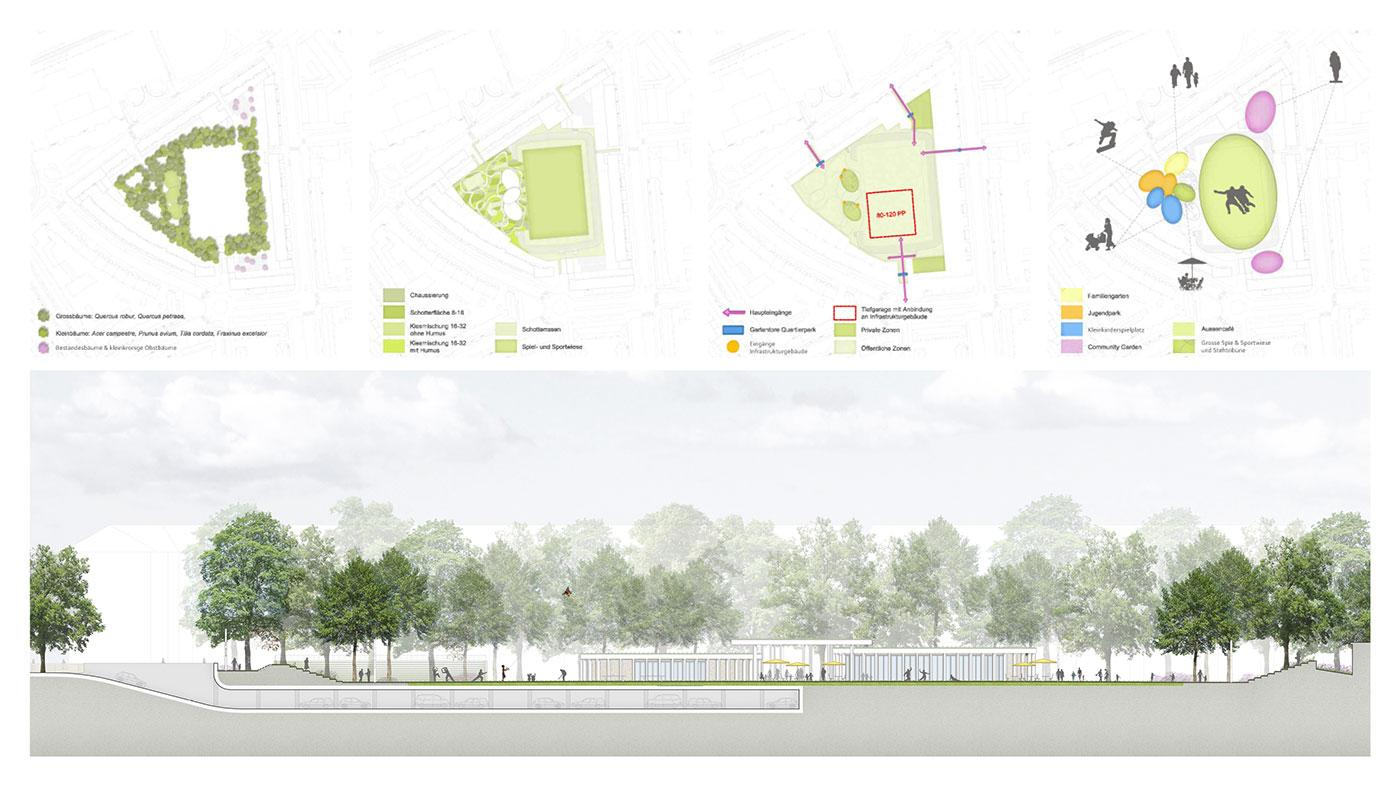 Concept Diagrams & Illustrative Site Section