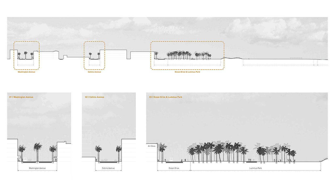 Typical Section through Miami Beach