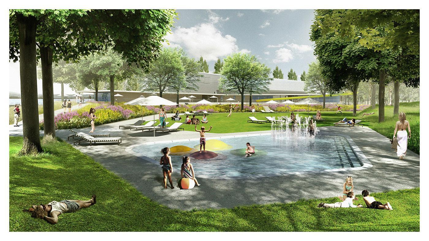 View of Lido Pools & Public Park
