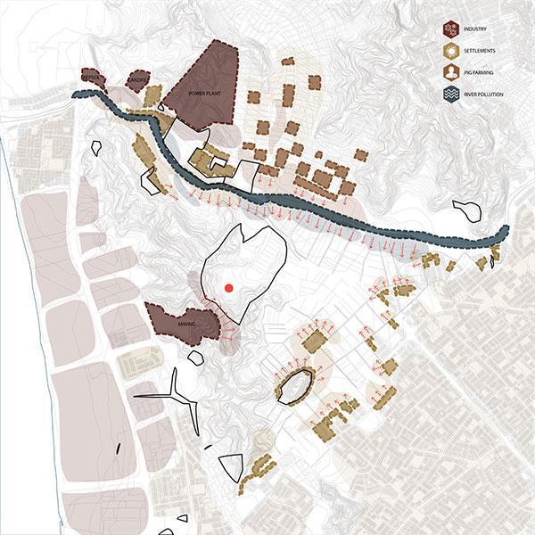 El Paraiso Site Conflict Diagram