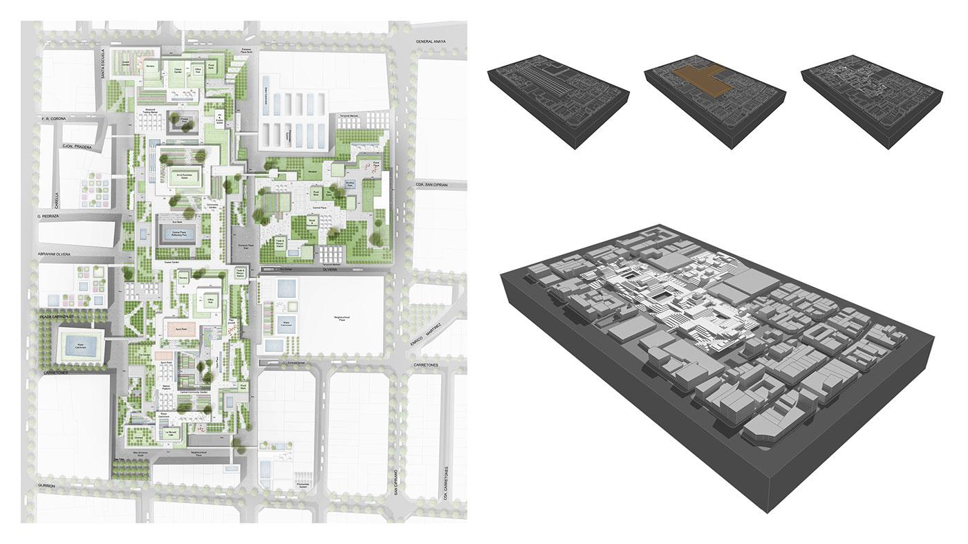 Illustrative Plan of La Merced Market