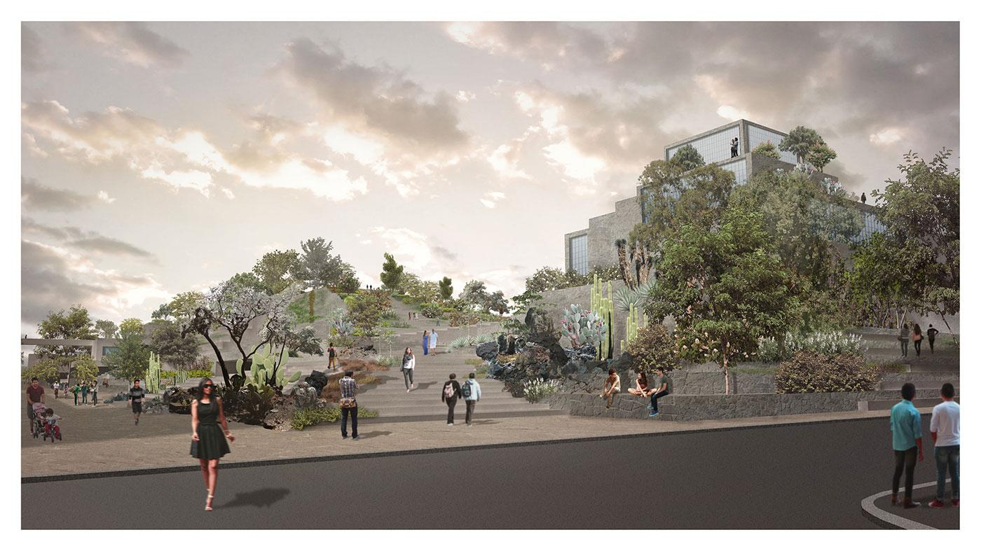 Market Entrance & Building Landscape