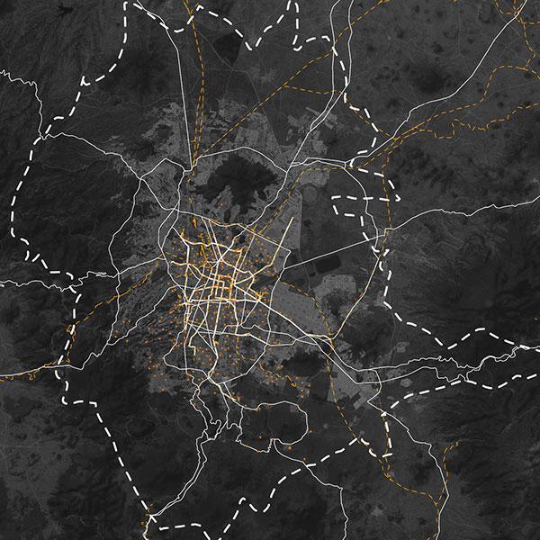 Urban Boundaries of Mexico City